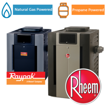 Natural Gas and Propane Raypak and Rheem Heaters